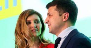Olena Zelenska and Volodymyr Zelensky