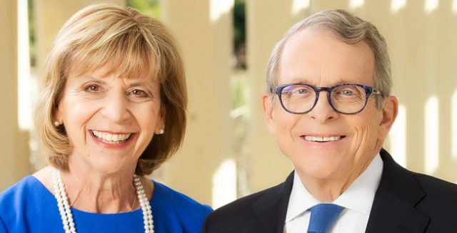 Frances Struewing & husband Mike DeWine